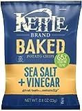 Kettle Brand Real Sliced Potatoes Baked Potato Chips, Sea Salt + Vinegar, 0.8-Ounce Bags (Pack of 72)