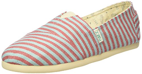 PaezOriginal Eva Surfy Portugal - Espadrillas Unisex - Adulto , Multicolore (Mehrfarbig (Red, Turquoise 0067)), 37