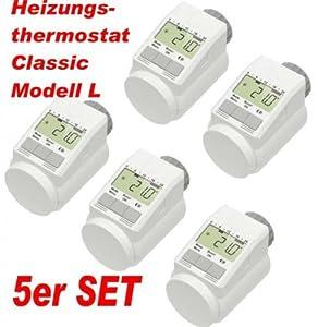 5er Set  HeizkörperThermostat Classic L mit BoostFunktion +++ neues leises Model  BaumarktBewertungen und Beschreibung