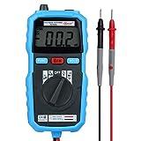 BSIDE デジタルマルチメーター DC/AC両用タイプ DMM LCD 2000カウント ダイオードテストなど測定 ブルー ADM04