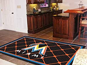 Fanmats 7060 Miami Marlins Rug 5 x 8 by Fanmats