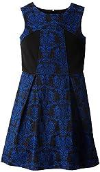 kc parker Big Girls' Stretch Jacquard Dress