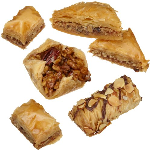 Sinbad Sweets Baklava Assortment (14 Piece), 17-Ounce Red Gift Boxes (Pack of 3)