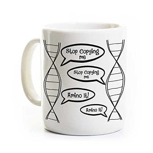 DNA Biology Coffee Mug - Funny Biology Mug Gift - Biology Student Gift Lab Scientist Coffee Mug, Original Design, Can be Customized