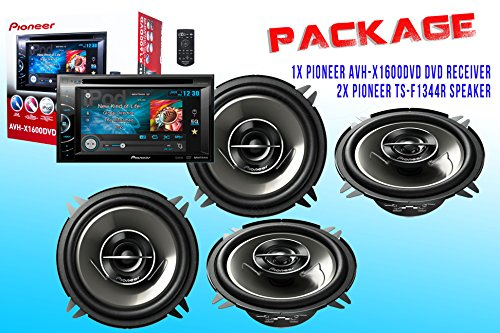 Package ! Pioneer Avh-X1600Dvd Dvd Receiver + Two Set Pioneer Ts-G1344R Car Speakers - 4 Speakers