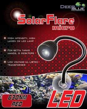 Solar Flare Micro Gooseneck 630Nm Red Led Light