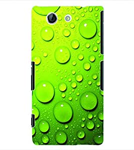 ColourCraft Water Drops Back Case Cover for SONY XPERIA Z4 MINI
