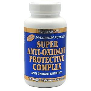 Genesis Nutrition Super Anti Oxidant Protective Complex,120-Count