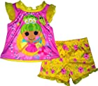 Lalaloopsy Girls Toddler Pix E Flutters 2 Piece Shirt & Short Pajama Set (3T)