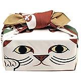 風呂敷(ふろしき)50コチャエ折り紙ふろしきまねき猫約50cm/