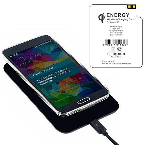 New Shop Qi Wireless Charging Pad With Receiver Tag For Samsung Galaxy S5 I9600 Chic