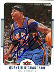 Quentin Richardson autographed Basketball Card (New York Knicks) 2006 Fleer #134