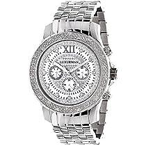 Luxurman Diamond Watch 0.25ct Mens