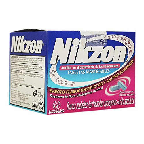 Nikzon 90 chewable tablets for Hemorrhoids treatment