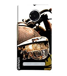Omnam Bullet Triumph Printed Designer Back Cover Case For Micromax Yuphoria