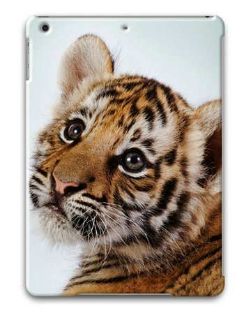 Cute Baby Tiger Sakuraelieechyan Hard Protective 3D Ipad Air Case front-20208