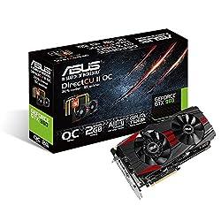 Asus GTX960 Black OC Edition - PCI Express Graphics Card ( 2GB GDDR5, 128-Bit, Core Clock 1279 MHz - Boost Clock 1342 MHz) -GTX960-DC2OC-2GD5-BLACK