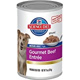Hill's Science Diet Mature Adult Gourmet Beef Entree Dog Food, 13-Ounce Can, 12-Pack