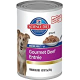 Hills Science Diet Mature Adult Gourmet Beef Entree Dog Food, 13-Ounce Can, 12-Pack