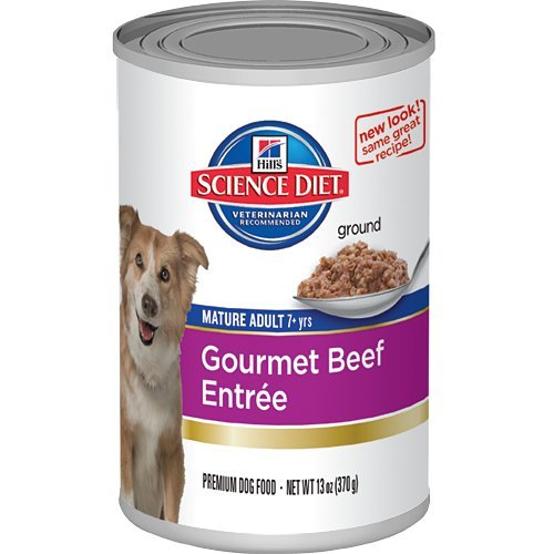 Hill's Science Diet Mature Adult Active Longevity Gourmet Beef Entree Dog Food, 13-Ounce Can, 12-Pack