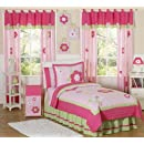 Pink And Green Flower Collection Childrens Bedding 3pc Full Queen Set By Sweet Jojo Designs