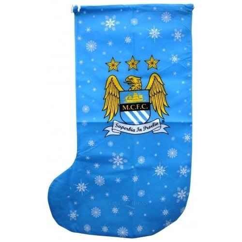 weihnachtsstrumpf manchester city one size himmelblau. Black Bedroom Furniture Sets. Home Design Ideas