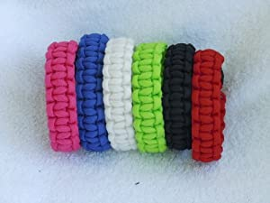 550 Paracord Survival Bracelets (Rainbow Design)