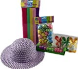 Make Your Own Easter Bonnet Complete Set (Pink Hat)
