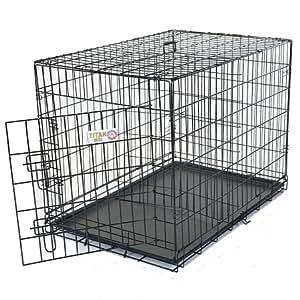 Majestic Pet 48-Inch Single Door Folding Dog Crate, X-Large