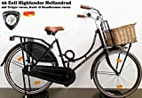 Damen Hollandrad Highlander 26 Zoll schwarz komplett mit Korb 49