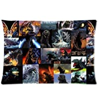 """Godzilla Monster Grid Pattrn Custom Zippered Square Pillow Case Pillowcases Size:20""""x 30"""" (Two Sides) from Generic"""