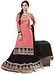 Atisundar Womens Faux Georgette Dress Material (5507_51_2004 -Pink -Free Size)