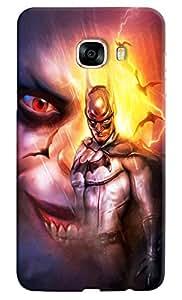 Omnam Batman Looks Printed Designer Back Cover Case For Samsung Galaxy C5