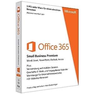 Microsoft Office 365 Small Business Premium - 5PCs/MACs - 1 Jahres Abonnement - multilingual (Product Key Card ohne Datenträger)