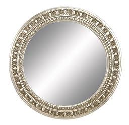 Deco 79 Wood Round Mirror Frame, 44\