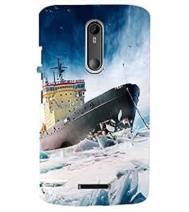 PRINTSHOPPII SEA NATURE SHIP Back Case Cover for Motorola Moto X3::Motorola Moto X (3rd Gen)