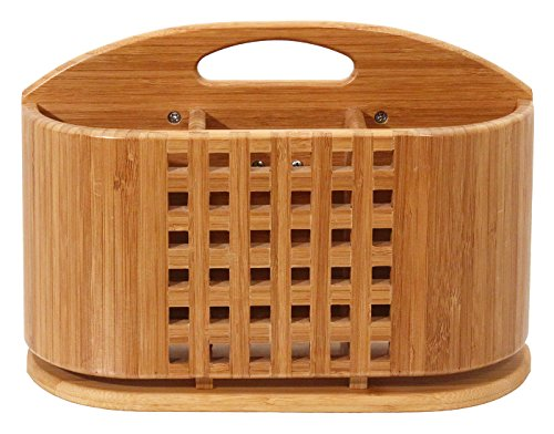 Totally Bamboo Eco Dish Rack Utensil Holder, Beautiful and Durable Bamboo (Kitchen Utensil Holder Bamboo compare prices)