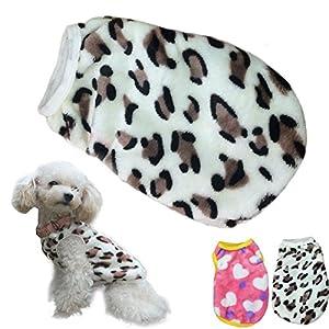 Puppy Clothes,Haoricu Villus Leopard Warm Vest for Small Dog Cat Custome Pet Vest Tee Shirt Apparel