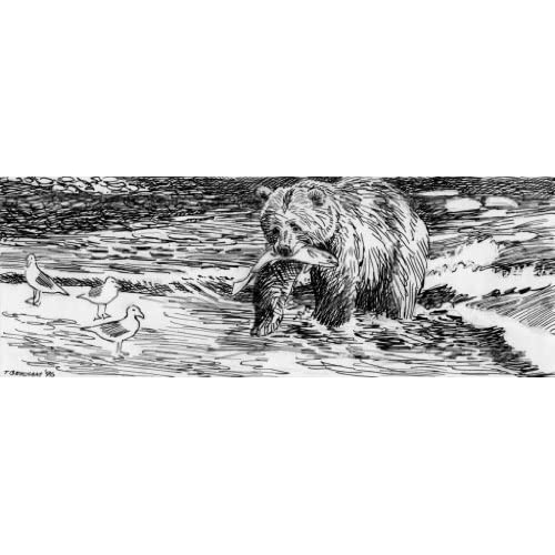 Alaskan Brown Bear - the Big Fisherman (Art Print, Stretched Canvas or Unstretched Canvas)