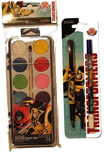 Transformers stilografica Set scrittura + cassetta tusch Set per la scuola