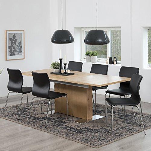 lounge-zone Tavolo da pranzo tavolo sala da pranzo sala da pranzo tavolo allungabile Tavolo estraibile Terry QUERCIA SELVATICA impiallacciatura ESTENDIBILE 160cm/210cm 14189