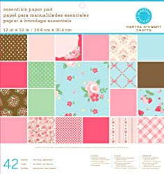 Martha Stewart Crafts Paper Pad, Vintage Girl, 42 Sheets, 12 by 12 inches