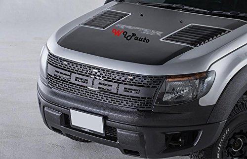 Raptor Front Grill Grille Awesome Led Light Bar Black Lit Ford Ranger T6 Xlt Px Wildtrak Ute 12 13 14