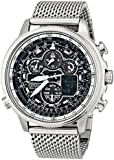 Citizen Men's JY8030-83E Navihawk A-T Analog Display Japanese Quartz Silver Watch