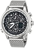 Citizen Mens JY8030-83E Navihawk A-T Analog Display Japanese Quartz Silver Watch