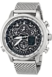 Citizen Men's JY8030-83E Navihawk A-T Watch with Stainless Steel Mesh Band