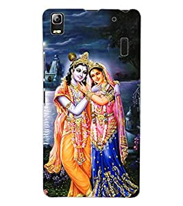 ColourCraft Lord Radha Krishan Design Back Case Cover for LENOVO A7000