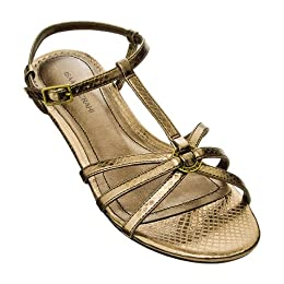 Isaac Mizrahi for Target® Liz Gladiator Sandals - Bronze Snake