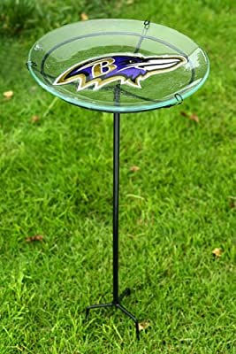 NFl Staked Bird Bath NFL Team: Baltimore Ravens