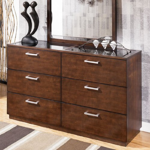 """MediumBrown Dresser by """"Famous Brand"""" Furniture"""